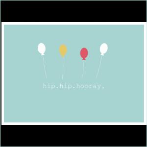 Postkarte Hip Hip Hooray für Webshop