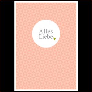 Kinder-Postkarte Alles Liebe rose