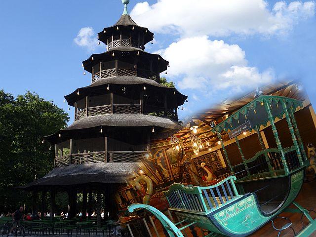 Englischer Garten mit Kiind_Chinesischer Turm