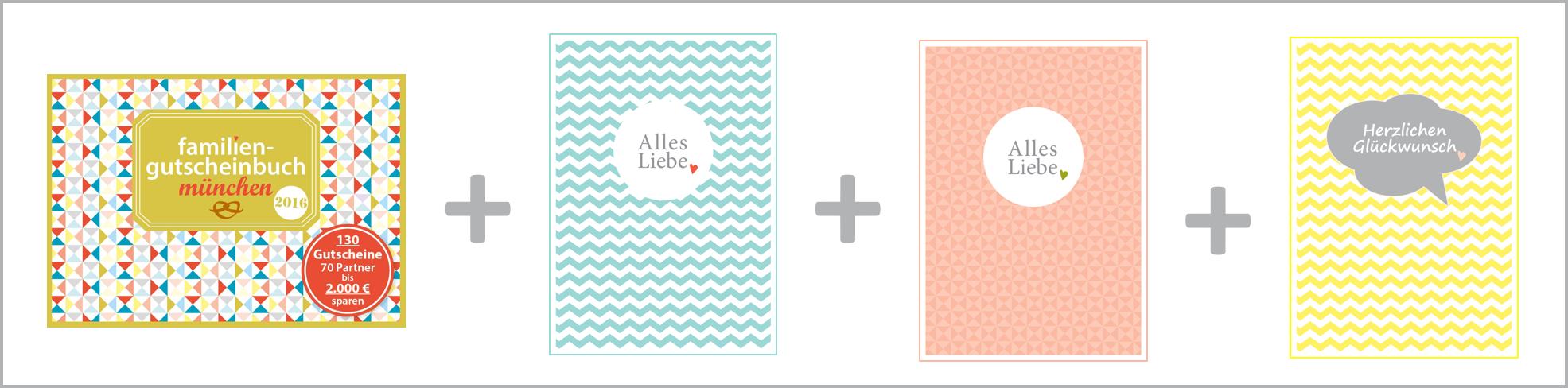 Familiengutscheinbuch + Familienpostkarten München