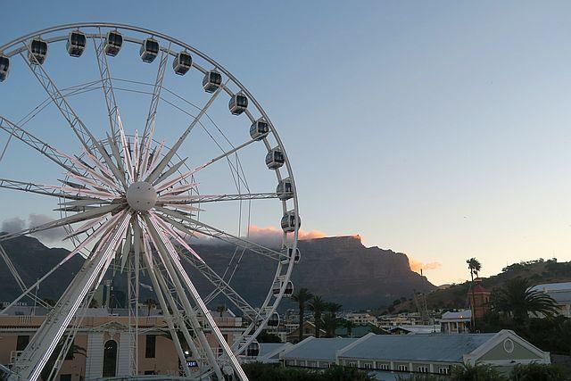 Kapstadt mit Kindern Waterkant Riesenrad Waterfront Kapstadt