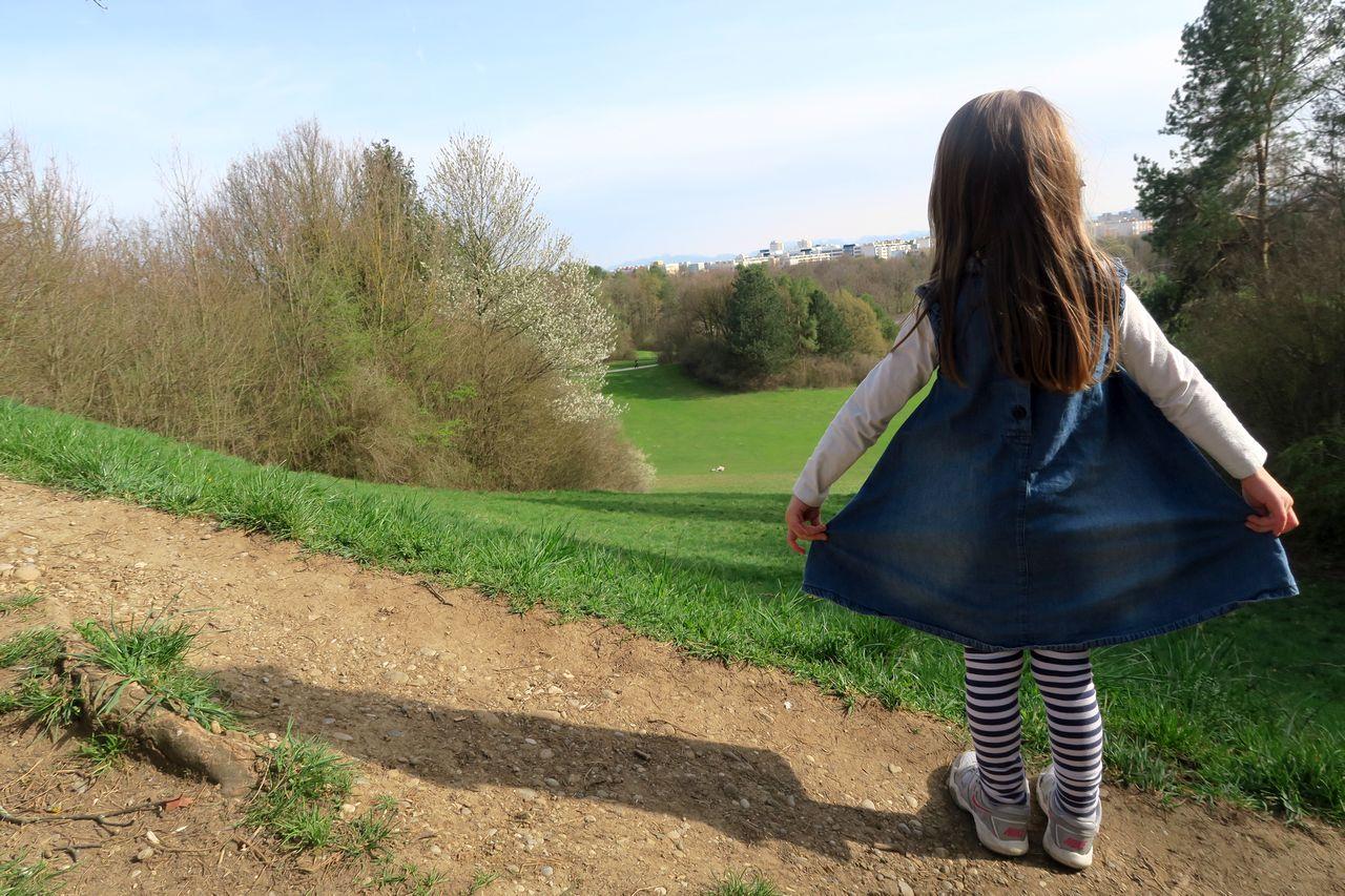 Ostpark München - Ostpark mit Kind