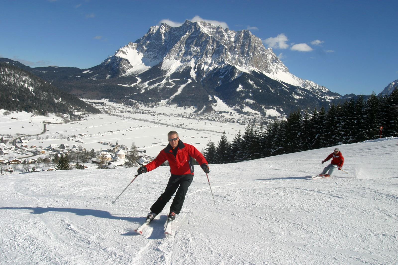 Lermoos Grubigstein Skifahren