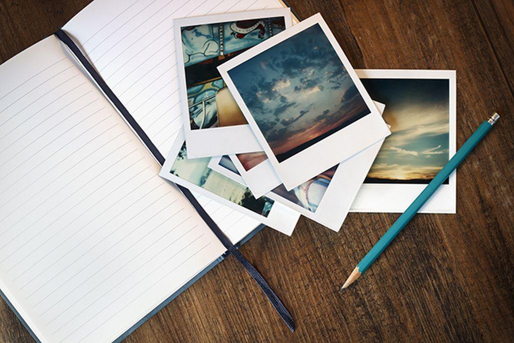 Notizblock mit Bildern