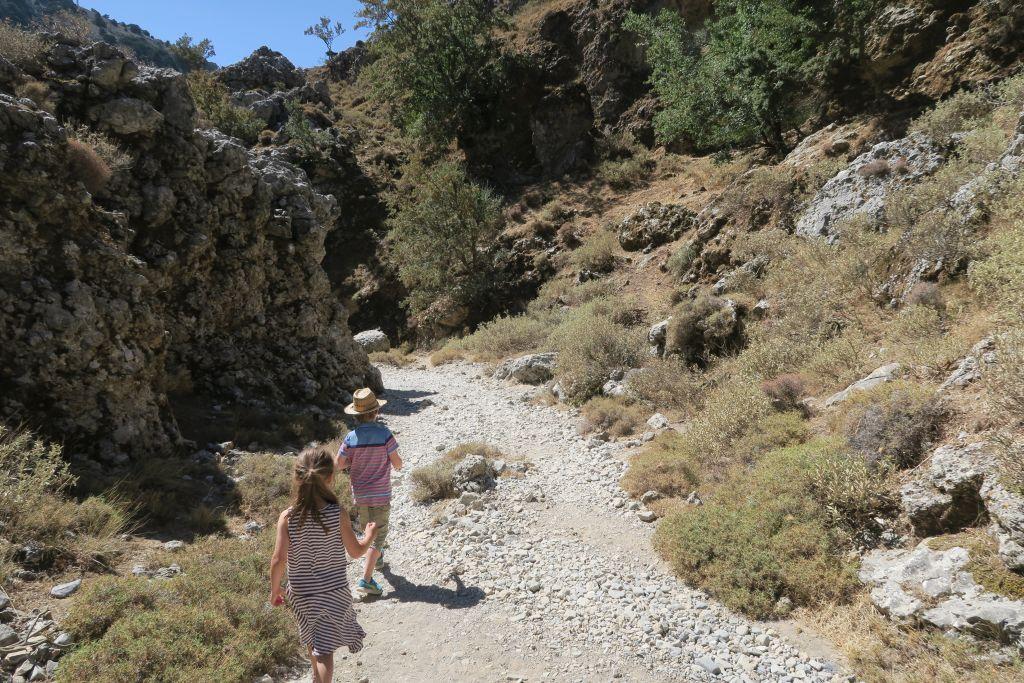 Wanderung mit der Familie auf Kreta